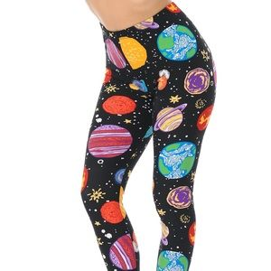 Planets in Space Leggings